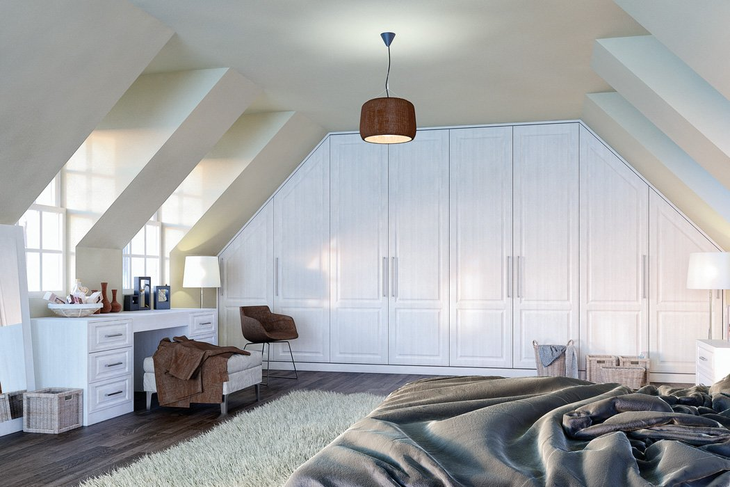 Bella Palermo Opengrain White Bedroom