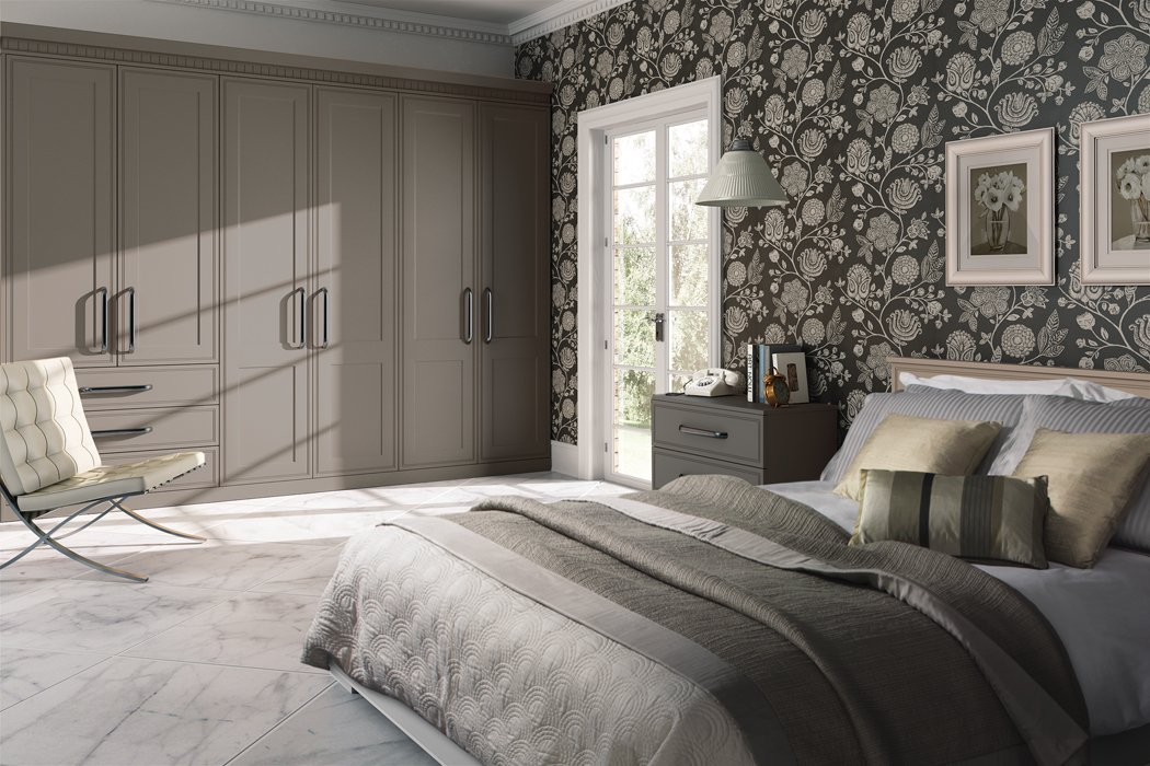 Bella Tullymore Matt Stone Grey Bedroom