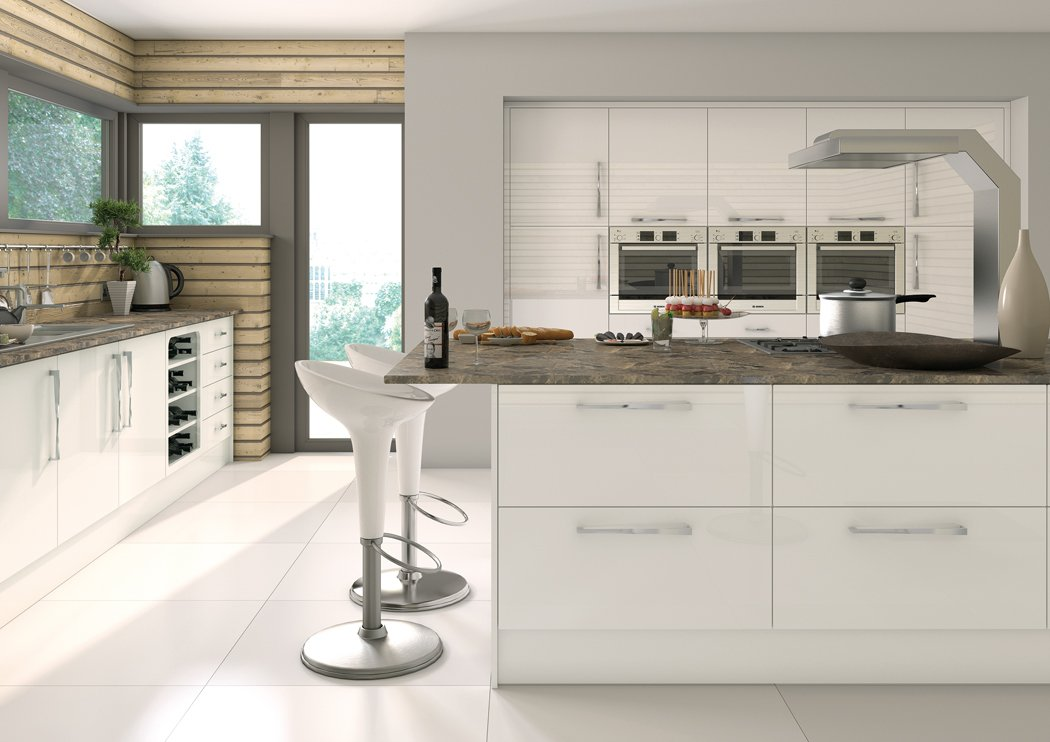 Pronto Camden Gloss White Kitchen