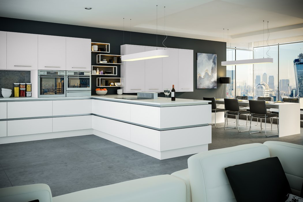 Pronto Firbeck Supermatt White Kitchen