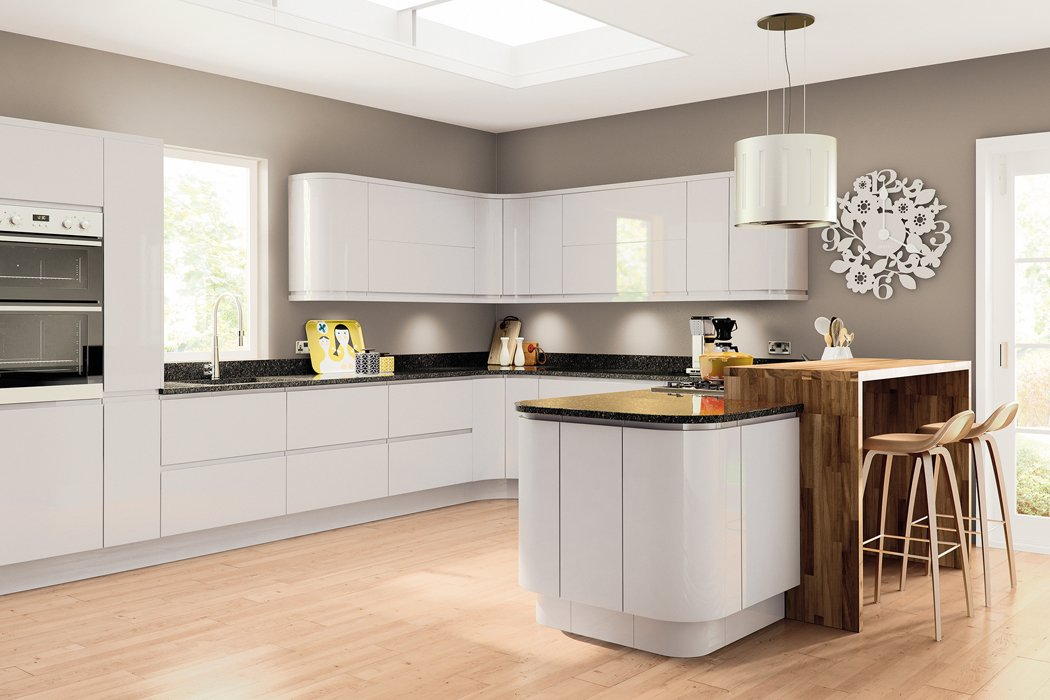 Pronto Lacarre Gloss Light Grey Kitchen