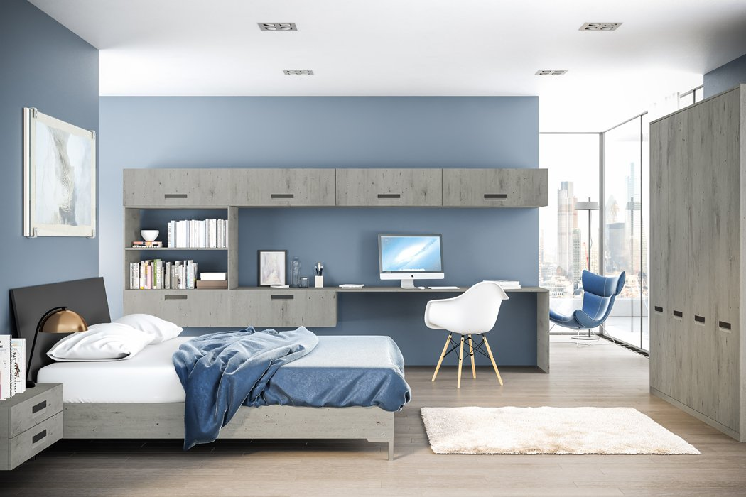 Bella London Concrete Lazio Bedroom