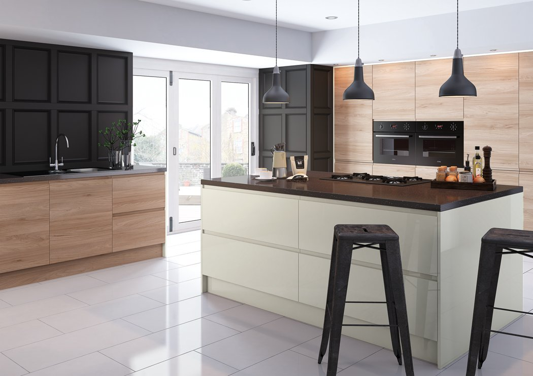 Pronto Malton Natural Elm Kitchen
