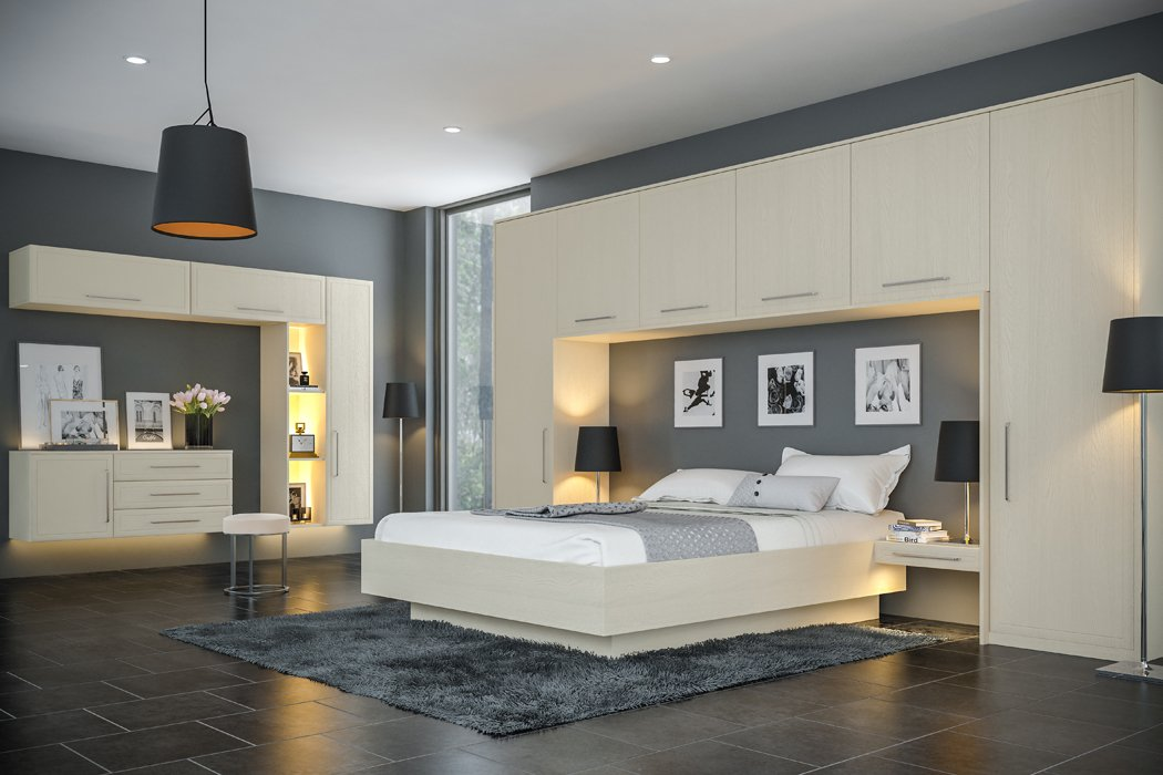 Bella Oakgrain Cashmere Euroline Bedroom