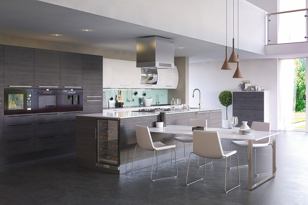 Opengrain Dark Grey White Venice Kitchen