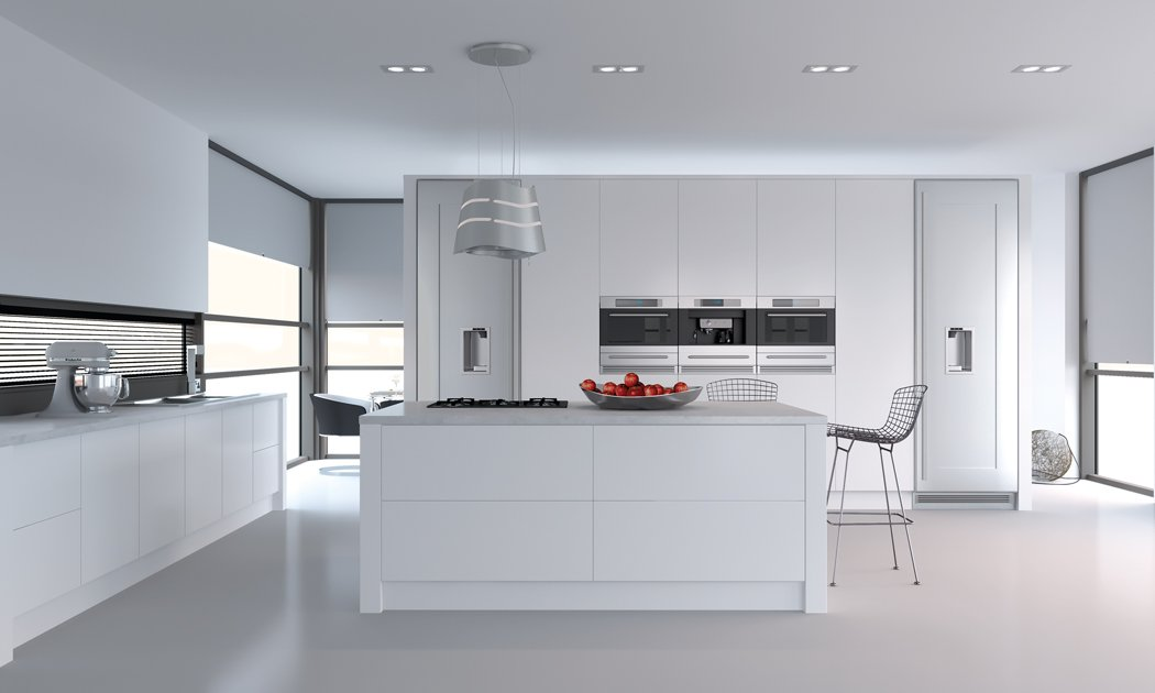 Porcelain White Venice Kitchen