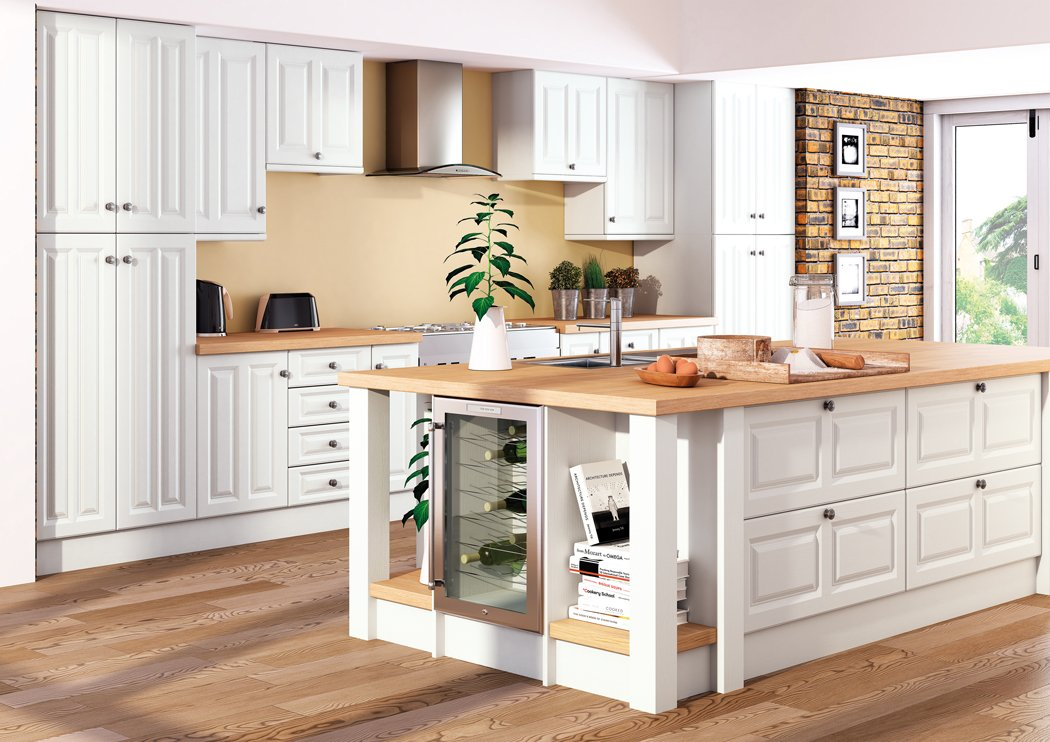 Super White Ash Milano Kitchen