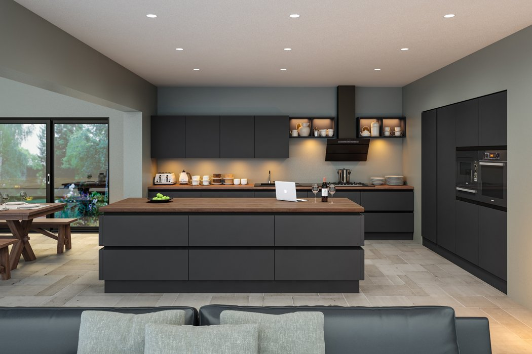 Zurfiz Supermatt Graphite Kitchen