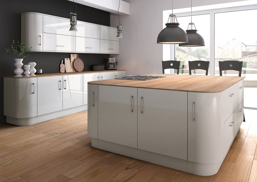 Zurfiz Ultragloss Light Grey Kitchen