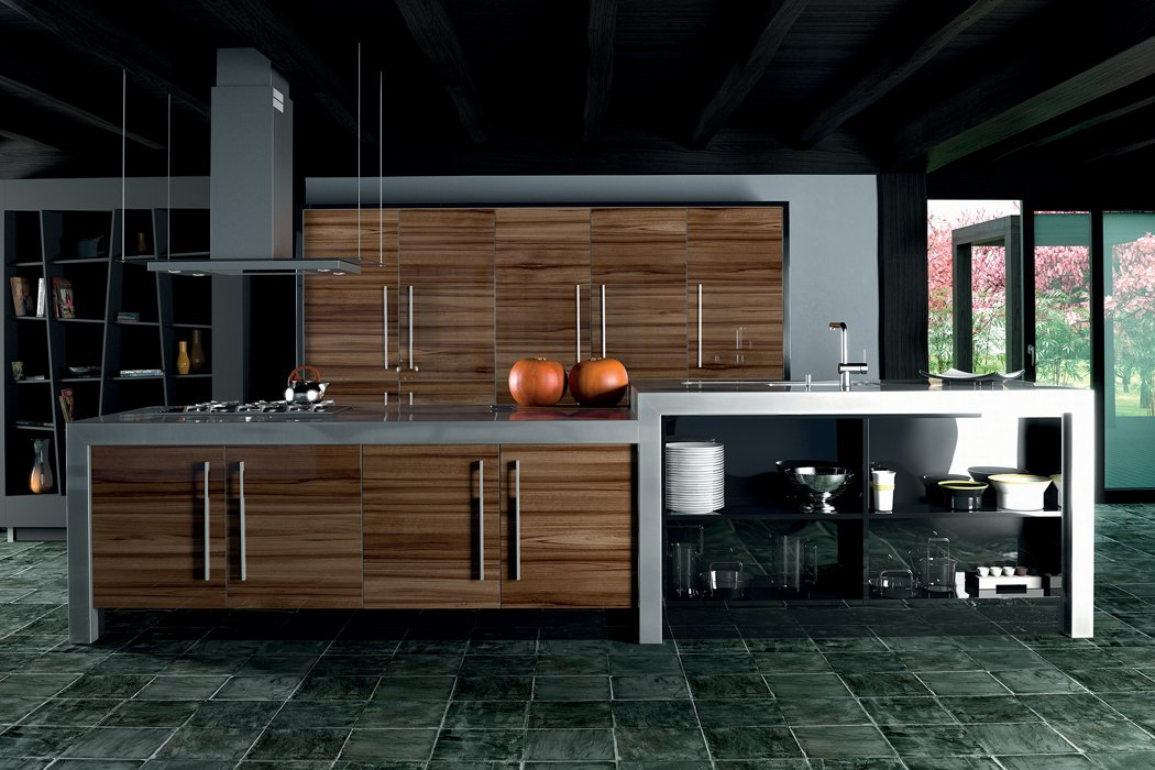 Zurfiz Ultragloss Noce Marino Kitchen