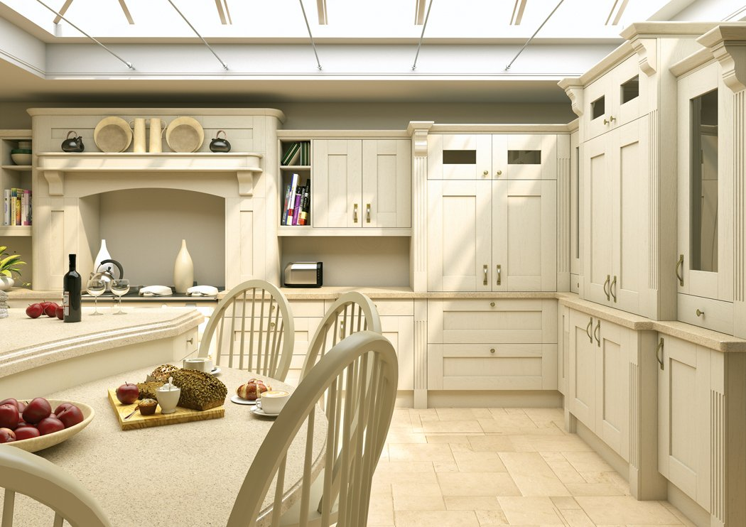 Pronto Wilton Oakgrain Cream Kitchen