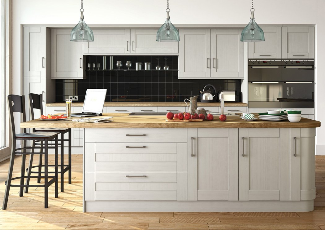Pronto Wilton Oakgrain Grey Kitchen