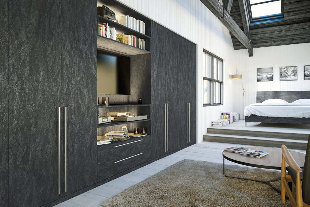 Zurfiz Evora Stone Graphite Bedroom