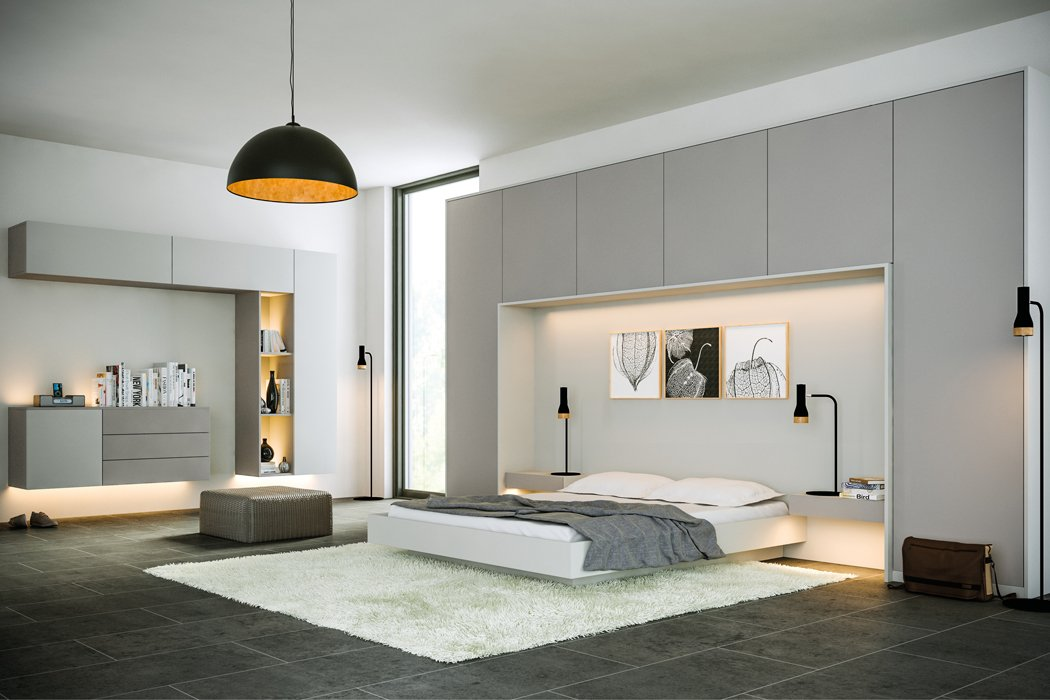Zurfiz Supermatt Dust Grey Bedroom