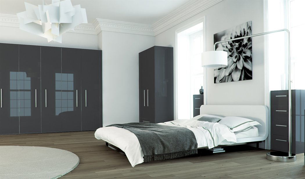 Zurfiz Metallic Anthracite Bedroom