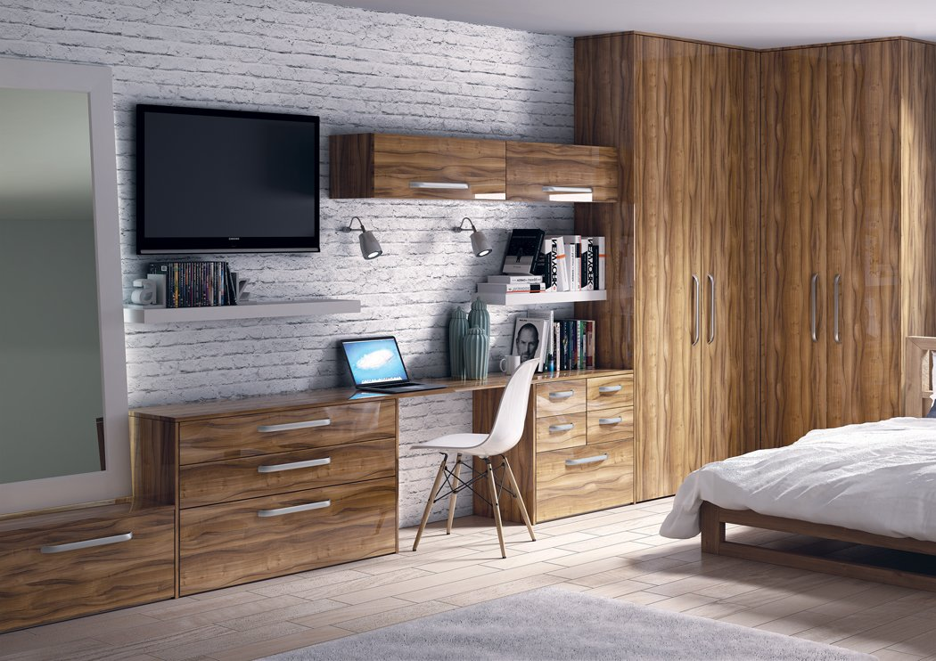 Zurfiz Ultragloss Noce Marino Bedroom