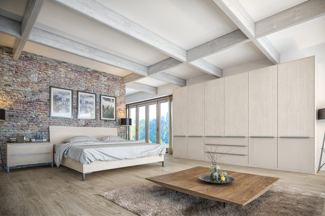 Valore White Swiss Larch Cashmere Bedroom