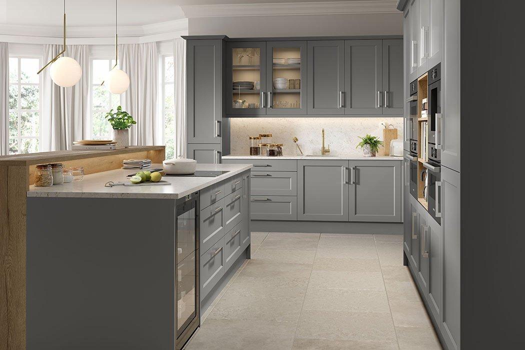 Matt Dust Grey Richmond Kitchen