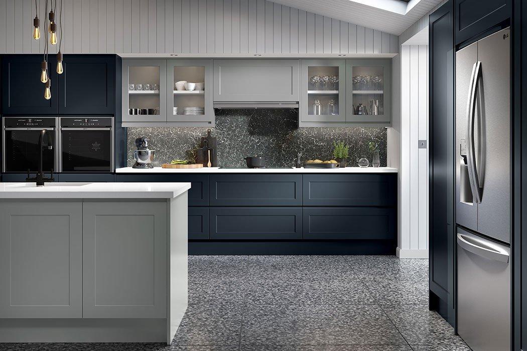 Matt Indigo Blue Elland Kitchen