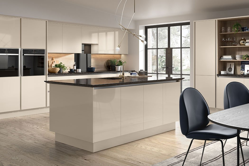 Pronto Firbeck Supergloss Cashmere Kitchen