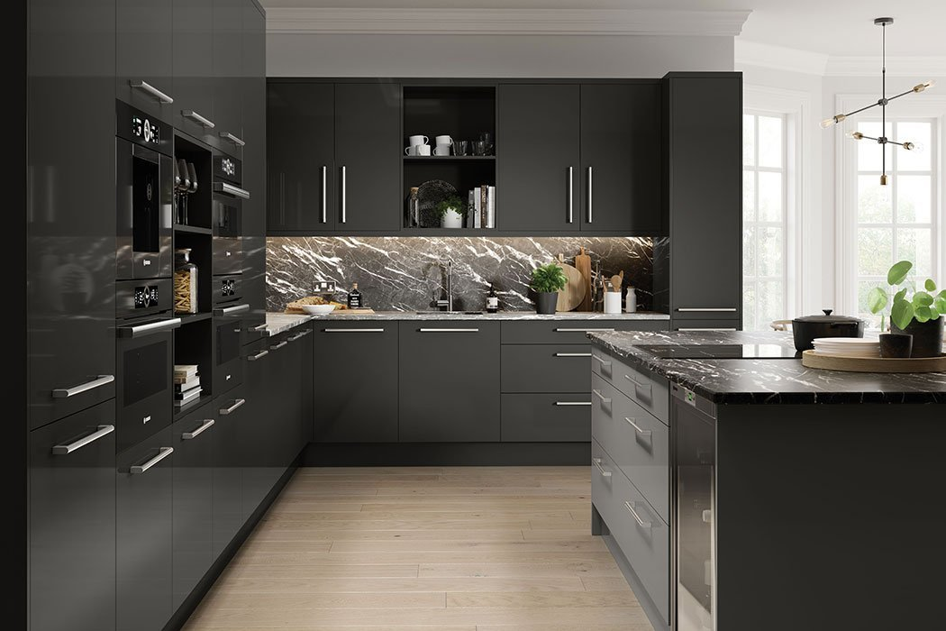 Pronto Firbeck Supergloss Dust Grey Kitchen