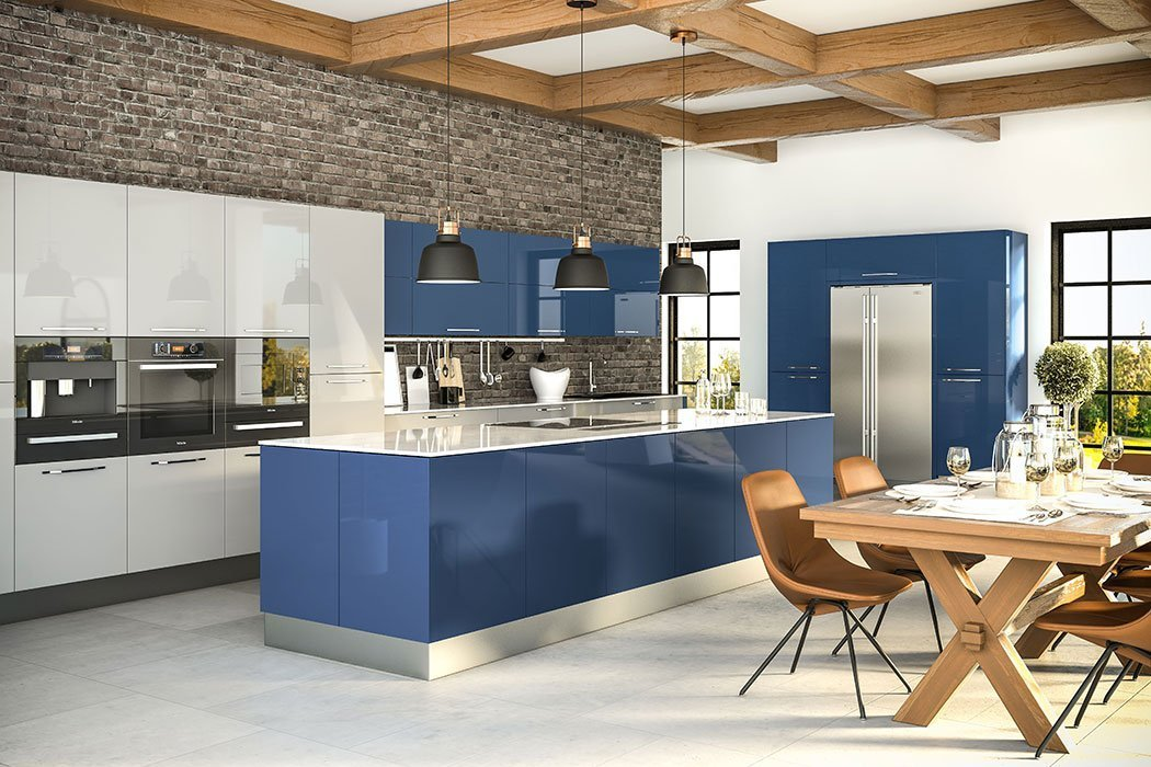 Zurfiz Ultragloss Baltic Blue Kitchen