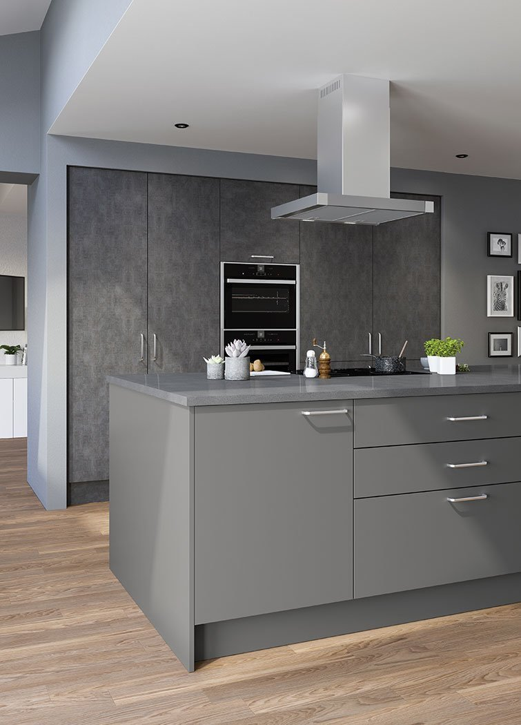 Valore Smooth Dust Grey Kitchen