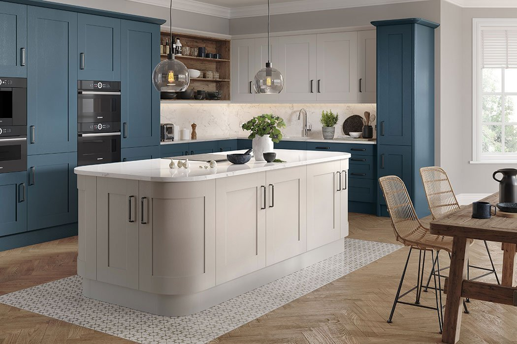 Pronto Wilton Oakgrain Azure Blue Kitchen