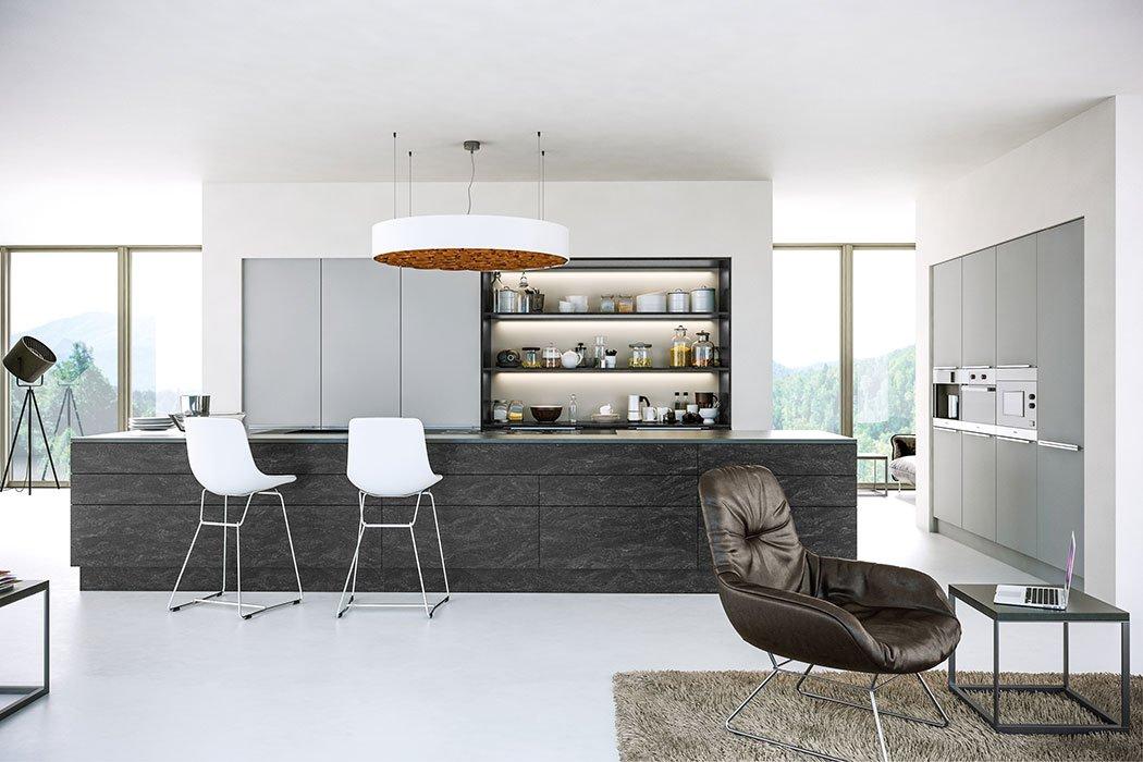 Zurfiz Supermatt Light Grey Kitchen