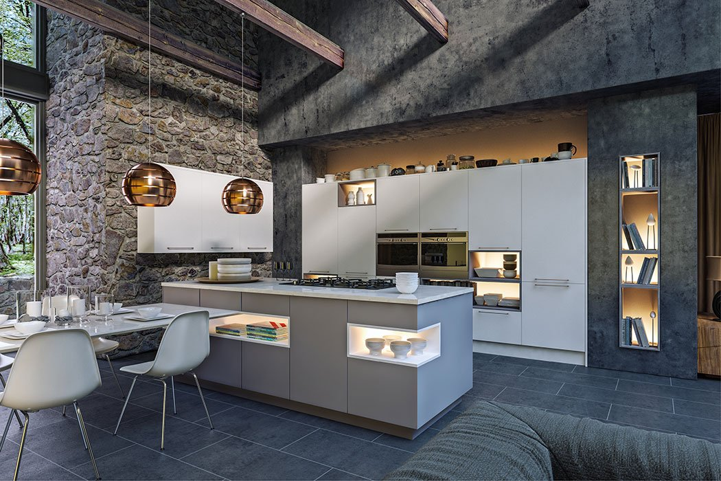 Zurfiz Supermatt Dust Grey Kitchen
