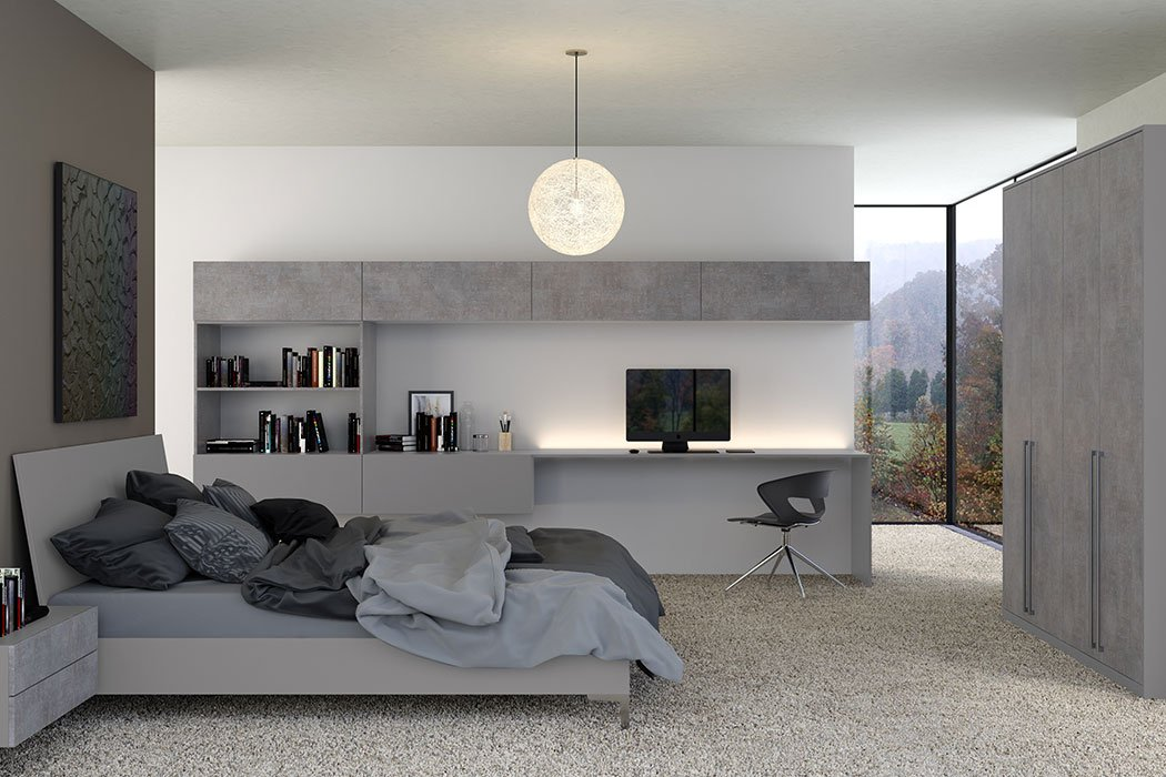 Valore Anthracite Fabric Metal Bedroom