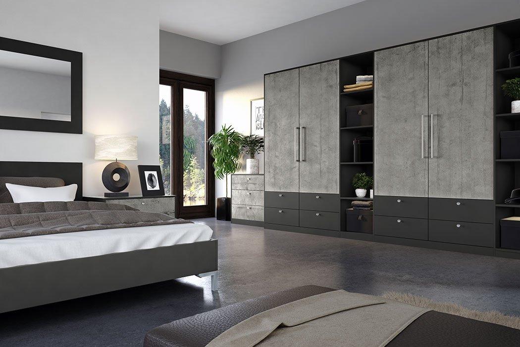 Valore Boston Concrete Bedroom